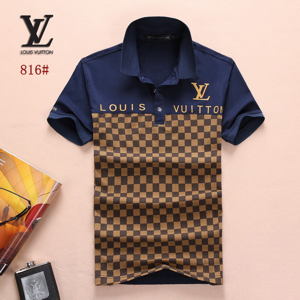 Louis Vuitton POLO shirts men-LV61812A