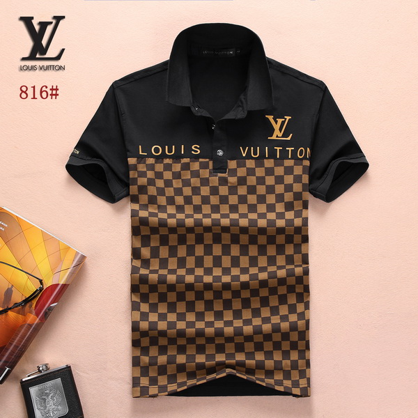 Louis Vuitton POLO shirts men-LV61814A