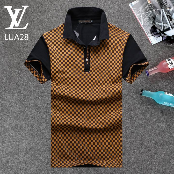 Louis Vuitton POLO shirts men-LV61820A
