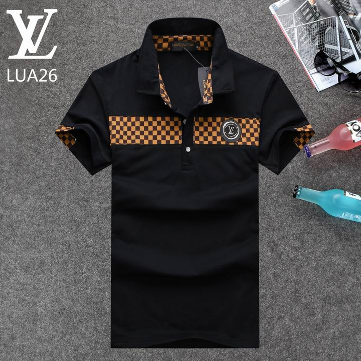 Louis Vuitton POLO shirts men-LV61824A