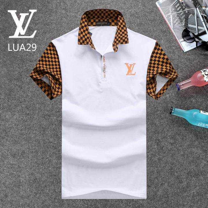 Louis Vuitton POLO shirts men-LV61827A