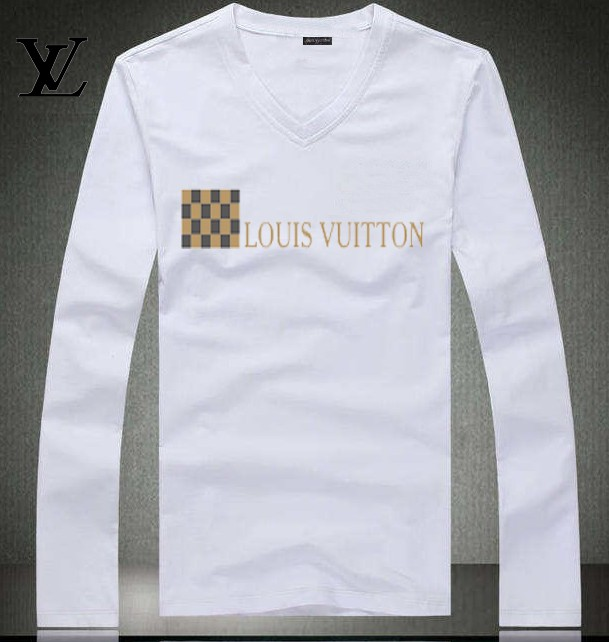 Louis Vuitton long-sleeve men T-shirts-LV91885B