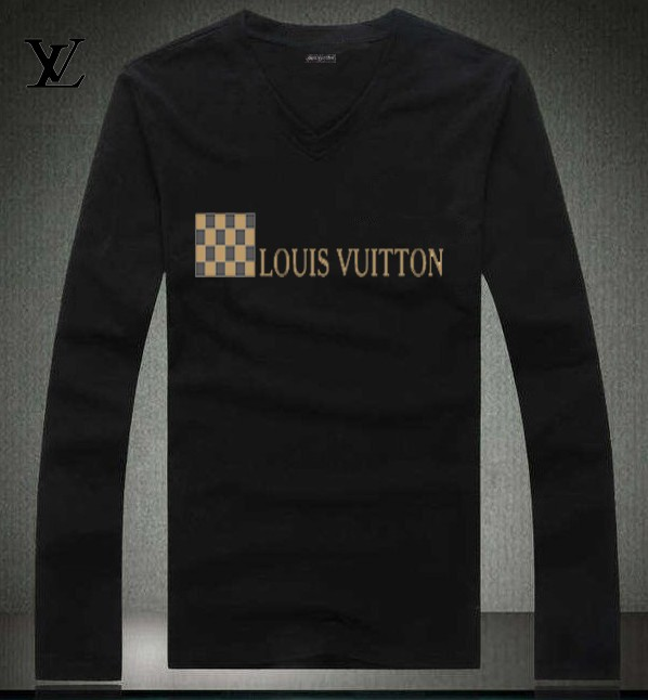Louis Vuitton long-sleeve men T-shirts-LV91886B