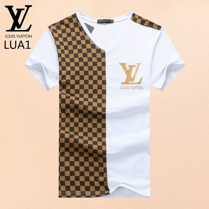 louis vuitton v neck men t shirts lv004a cheap shoes. Black Bedroom Furniture Sets. Home Design Ideas