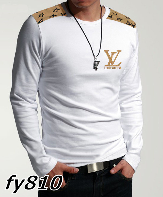Louis Vuitton long-sleeve men T-shirts-LV13669B