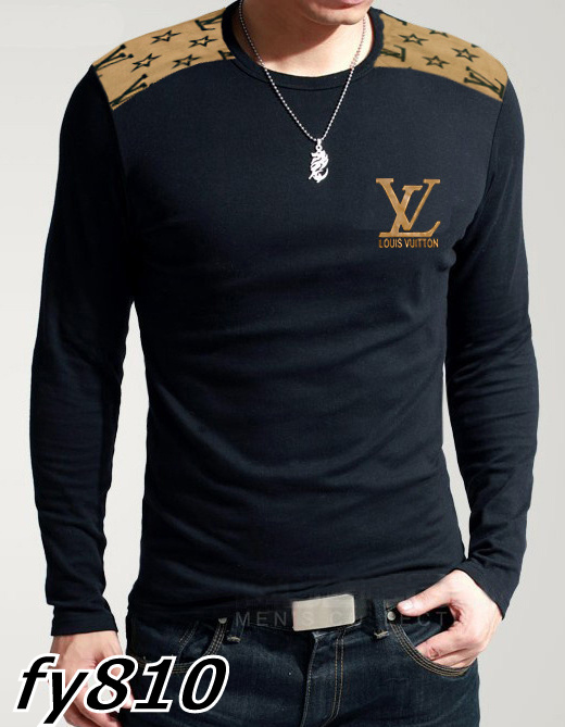 Louis Vuitton long-sleeve men T-shirts-LV13670B
