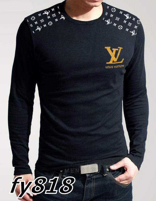 Louis Vuitton long-sleeve men T-shirts-LV13917B