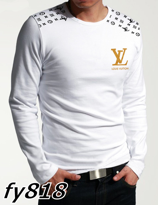 Louis Vuitton long-sleeve men T-shirts-LV13918B