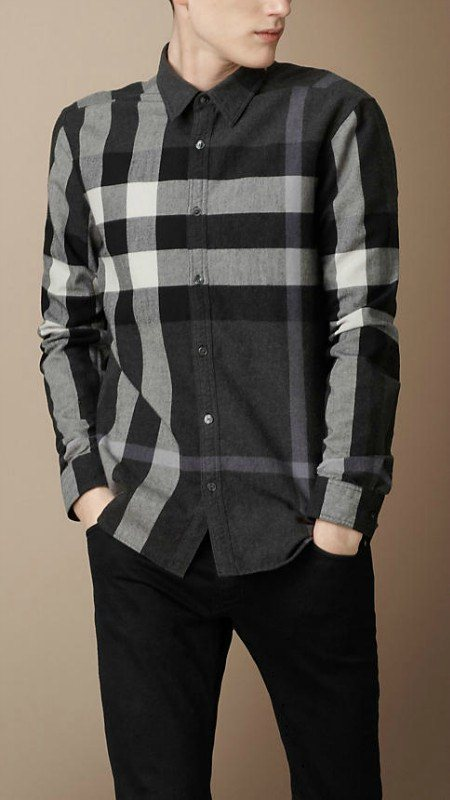 Burberry men shirts-B19586