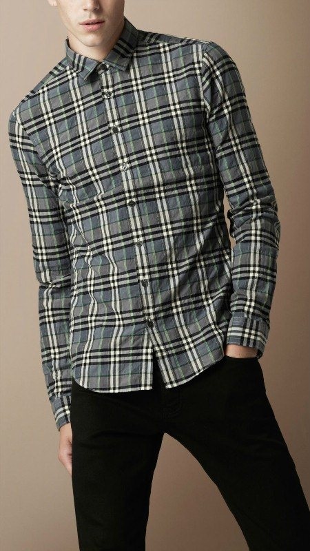 Burberry men shirts-B19588