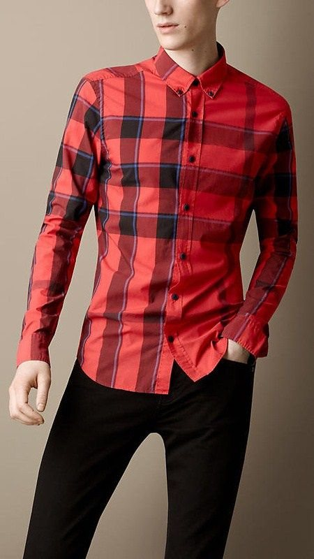 Burberry men shirts-B19595