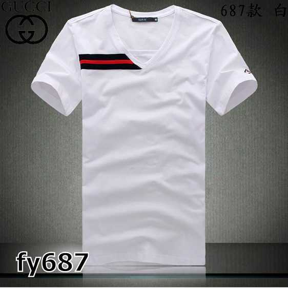 Gucci V-neck T-shirts men-GG8156F
