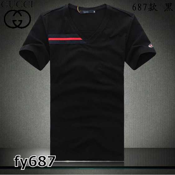 Gucci V-neck T-shirts men-GG8158F