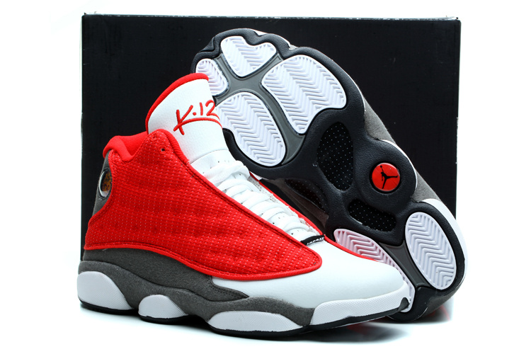 nike air jordan 13 (XIII) retro shoes men-true red/flint grey/white
