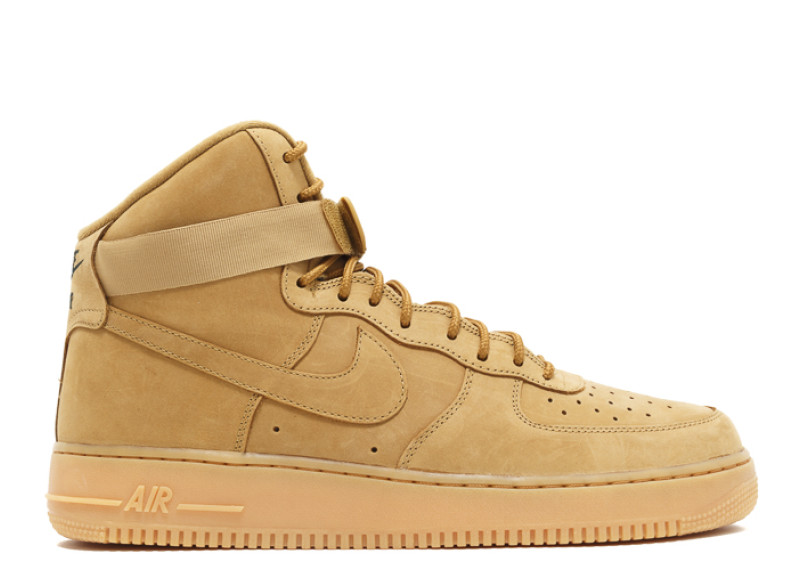 nike air force 1 high youth shoes-wheat