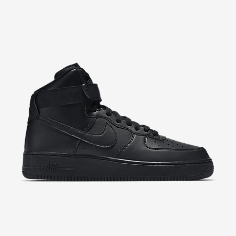 nike air force 1 high-top women shoes-all black