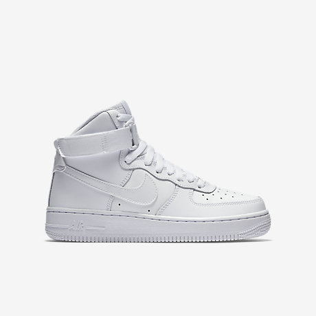 nike air force 1 high-top women shoes-all white