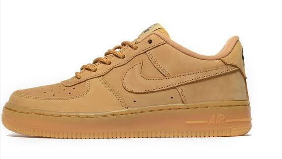 nike air force 1 low youth shoes-wheat