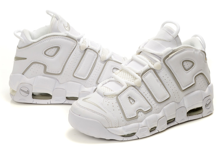 nike air more uptempo men shoes-all white